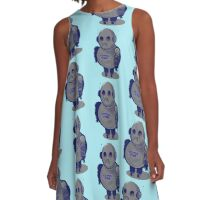 Sad Robot   A-Line Dress
