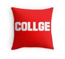 College - misspelled Throw Pillow