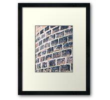 Vintage brick Framed Print