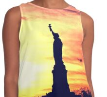 Lady of Liberty Silhouette Contrast Tank