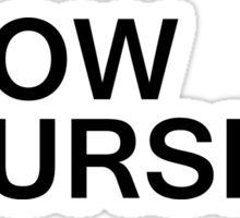KNOW YOURSELF (Black) Sticker