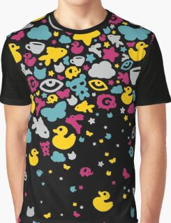 Toys falling like candies - black Graphic T-Shirt