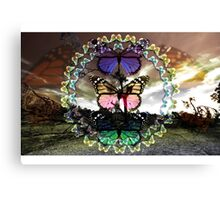 Butterfly March Canvas Print