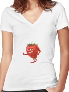 Fruit Fun Women's Fitted V-Neck T-Shirt