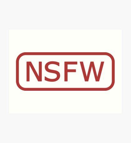 NSFW Tag Art Print