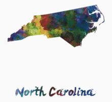 North Carolina US state in watercolor Kids Clothes