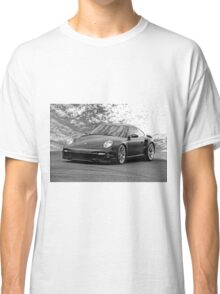 'Satin Black' Turbo Sports Car Classic T-Shirt