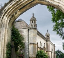 Lacock Abbey and Arch Sticker