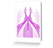 Courbes violettes en symétrie Greeting Card