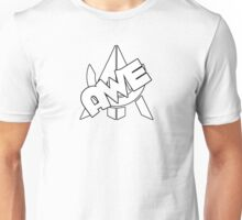 Wht Awe Logo With Text Unisex T-Shirt