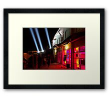 Red Light District - Dark Mofo 2014 Framed Print