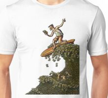 Surfing on a Wave of Money Unisex T-Shirt