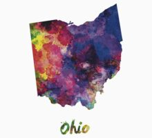 Ohio US state in watercolor Kids Clothes