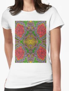 Rad Rose Womens Fitted T-Shirt