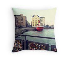 Helsinki Love Bridge Throw Pillow