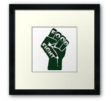 Food Fight Framed Print