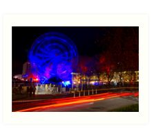Wheel of Death street scene - Dark Mofo 2014 Art Print