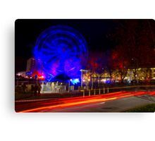 Wheel of Death street scene - Dark Mofo 2014 Canvas Print