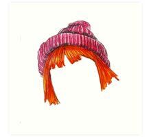Hayley Wiliiams Hair Beanie  Art Print
