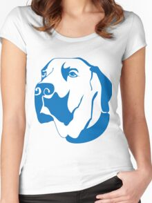 Dog elegant Paintings Women's Fitted Scoop T-Shirt