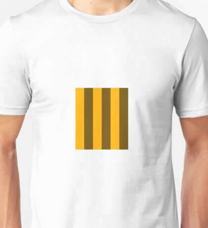 Yellow and Brown stripes - Pixel Field Series design Unisex T-Shirt