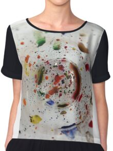 Ink Cup Chiffon Top