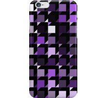 purple repeating cube pattern iPhone Case/Skin
