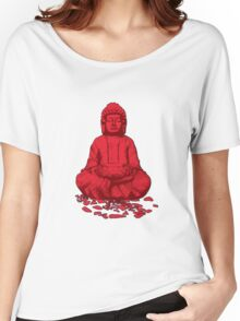 Buddha red Women's Relaxed Fit T-Shirt