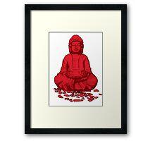 Buddha red Framed Print
