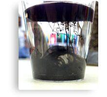Ink Pot - Black Canvas Print