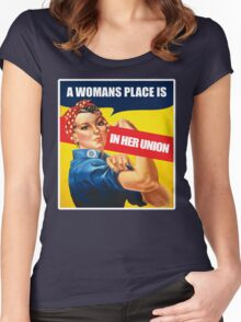 A Woman's place, Feminism Equality Rosie the Riveter, Equal Right Swag and Gifts for feminists.  Women's Fitted Scoop T-Shirt