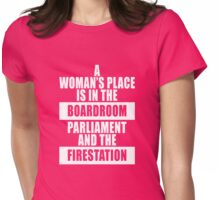 A Woman's Place Is in the Board Room Feminist Equality Gifts and Swag  Womens Fitted T-Shirt