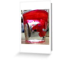 Ink Pot - Red Greeting Card