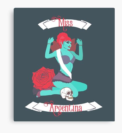 Miss Argentina (Teal) Canvas Print