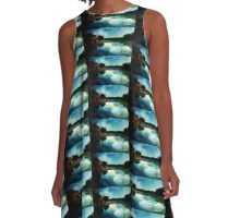 Moonlight Reflected on Still Waters A-Line Dress