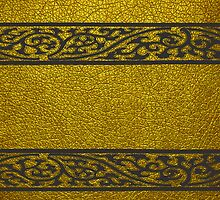 Damask Border Gold Leather by Nhan Ngo