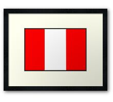 Number 7 Flag Framed Print