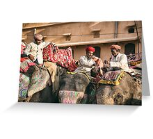 Elephant Chai Time - Rajasthan, India Greeting Card