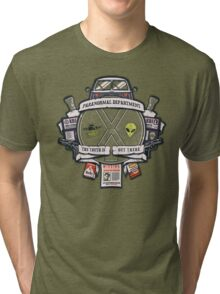 Paranormal Files Crest Tri-blend T-Shirt