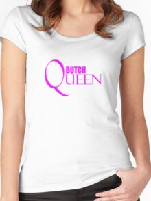 Butch Queen Shirt, LoveUTees Funny LGBT Shirts, Unique Gifts, Pride Swag Women's Fitted Scoop T-Shirt