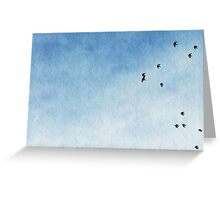 Crazy Chico Birds I Greeting Card
