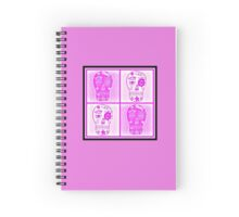 Pink/White Sugar Skulls Spiral Notebook