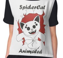 SpiderCat Animated Chiffon Top