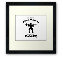 Weight Lifter Framed Print