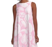 Stone Warmth Design (Cotton Candy Rose Color) A-Line Dress