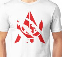 Awe Red Scratch Unisex T-Shirt