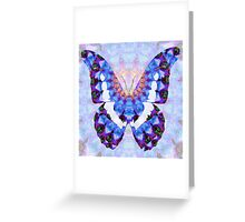 Purple Mandala Butterfly Art by Sharon Cummings Greeting Card