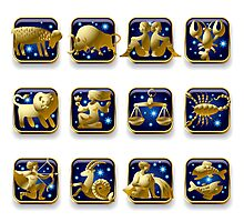 Zodiac signs Photographic Print