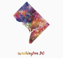 Washington DC US state in watercolor Kids Clothes