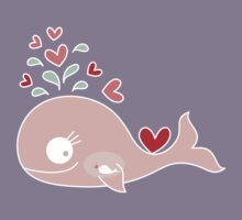 Whimsical Pink Pregnant Mommy Whale Kids Tee